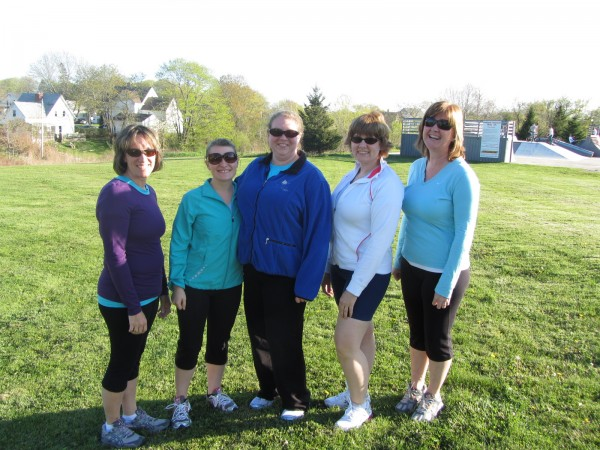 Several of the members of the Couch to 5K running group are Melanie Butman (from left), Alyssa Rolerson, Elizabeth Poisson, Sherry Stone, and Elaine Meklin.