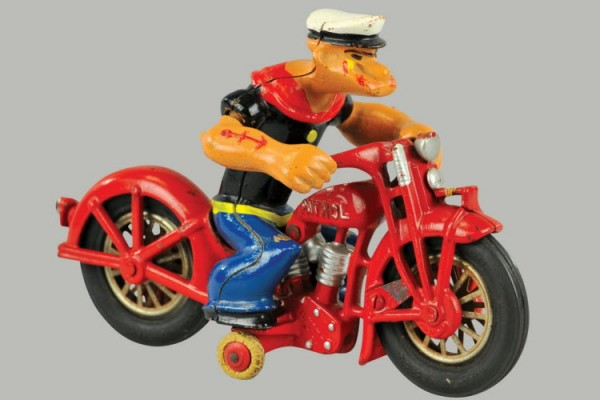 The Hubley cast iron Popeye Patrol toy sold for $19,550 recently at Bertoia Auctions.