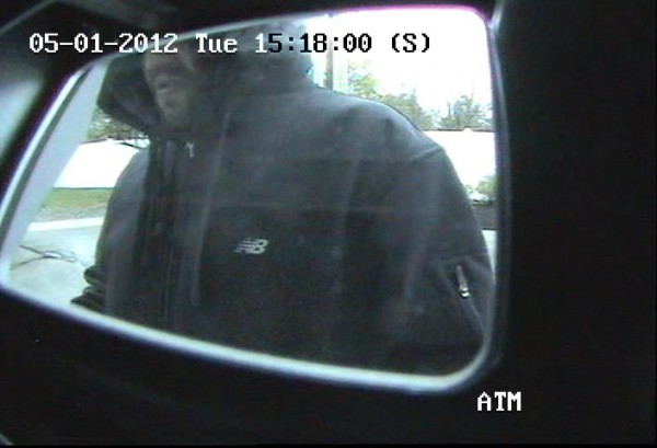 Bangor police are looking for the man pictured in this image, taken at 3:18 p.m. May 1, 2012, at an ATM in Bangor.