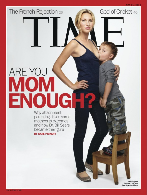 Are you mom enough? Mothers react to Time's breast-feeding cover