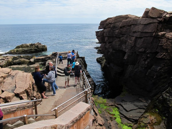 Tourists explore Thunder Hole in Acadia National Park on Monday, May 28, 2012. The park was busy over the extended Memorial Day weekend thanks, in large part, to sunny skies and warm temperatures.