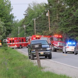 Police, fire and rescue crews from more than a half-dozen agencies assisted Sunday night at a two-vehicle crash that killed two people and injured three on Route 230 in Trenton.