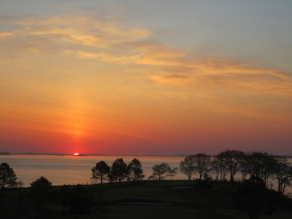 Sunrise from the Samoset in Rockland.
