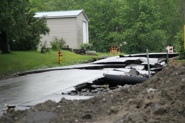 Several roads in Brownville, including High Street, were closed and power was cut off after heavy rainfall overnight Saturday, June 23, 2012 that caused flash flooding in parts of the town.