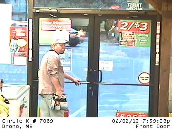 Surveillance image taken from the Circle K store on Main Street in Orono around 8 p.m. Saturday, June 2.