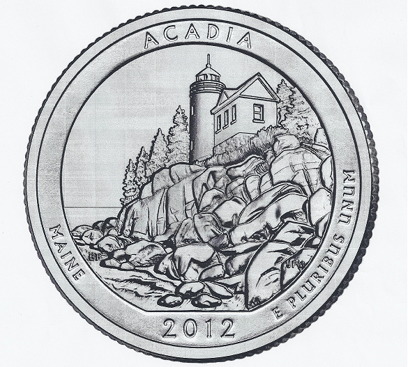 A new quarter coin commemorating Acadia National Park will be publicly released at a ceremony scheduled for 9:30 a.m. Tuesday.