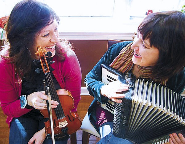 Among the top performers slated to appear during the 11th Annual American Folk Festival are Mary Jane Lamond (left) and Wendy MacIsaac. They will play Scottish-influenced Cape Breton fiddle music.