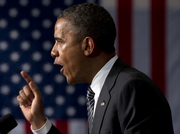 President Barack Obama speaks at a campaign event at the Hyatt Regency Hotel on Tuesday, June 12, 2012, in Baltimore.