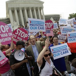 Obama health care faces Supreme Court on Monday