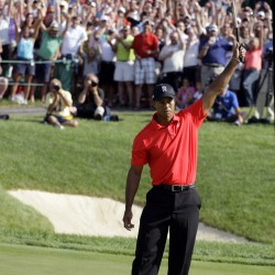 Tiger Woods shoots 7-under 64 — 2 strokes back in Boston
