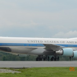 Plane seen in Bangor on Friday wasn't Air Force One or Two — not today, at least