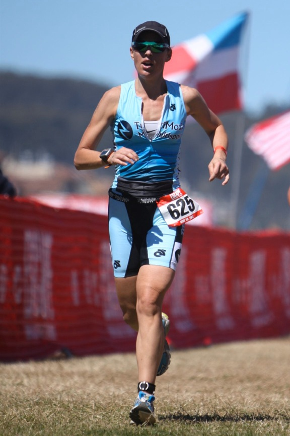 Beth Anderson of Northport completes the 8-mile run portion of 32nd Escape from Alcatraz Triathlon on June 10, 2012 in San Francisco.