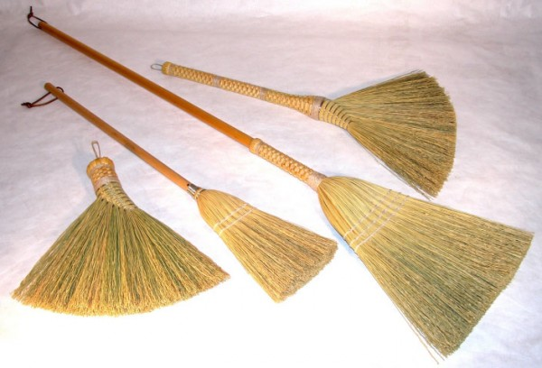 Among the family of housekeeping implements, the broom does not often enjoy the recognition it deserves. It was the Shakers, a Christian religious sect centered in the Northeast and revered for their facility with handicrafts, who made the broom flat.