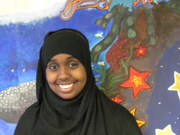 Fowziyo Jama will graduate from Casco Bay High School on Thursday night. Jama, who intends to study cardiology at Emory University in Georgia, developed a documentary taking a critical look at tribal conflicts in her native Somalia for a senior project.