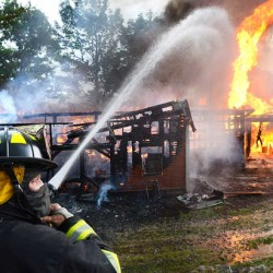 Fire levels Turner barn that housed dog breeding business, claims life of three puppies
