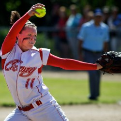 Cony completes undefeated softball season with wild win over Bangor