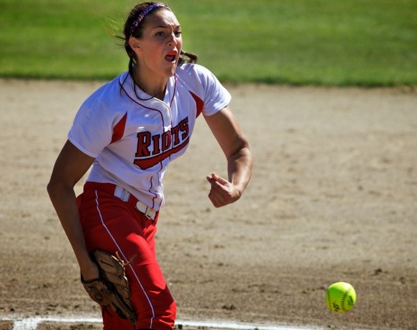South Portland High School junior Erin Bogdanovich delivers a pitch Saturday, June 16, 2012 in Standish at the State Class A Softball Championship Game.