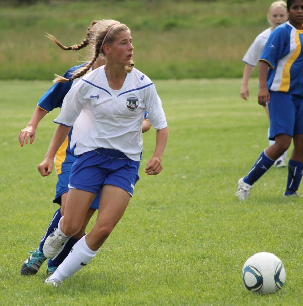 Opal Curless of Mount Desert, Maine, is one of 48 girls in the U.S. who was selected to participate in the U.S. Youth Soccer Association's Under-14 girls national training camp May 27-June 3, 2012, in Carson, Calif.