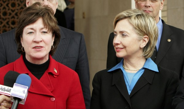 Sens. Susan Collins and Hillary Clinton together in 2005.