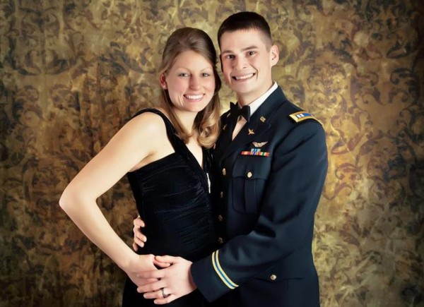 "U.S. Army Capt. John ""Jay"" Brainard III with his wife Emily. Capt. Brainard, an Army helicopter pilot from Newport, was killed Monday, May 28, 2012, in Afghanistan."