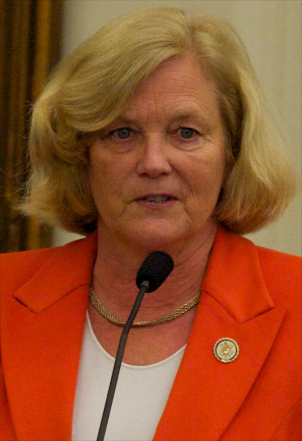 Rep. Chellie Pingree at the investiture ceremony for new district judge Nancy Torresen May 3, 2012 in Portland.