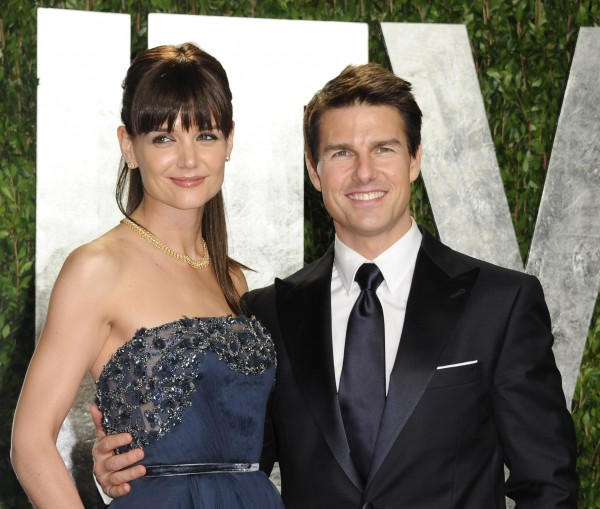 In this Feb. 26, 2012 file photo, actors Tom Cruise and Katie Holmes arrive at the Vanity Fair Oscar party, in West Hollywood, Calif. Cruise and Homes are calling it quits after five years of marriage.