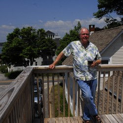 David Varney bought his Orr's Island home in April 2011, already having drawn up plans with Long Cove Builders to renovate the inside, including lengthening the staircase, and constructing a big, 14 by 20 foot deck on top of his garage so he could take in views of Casco Bay and Harpswell Sound.