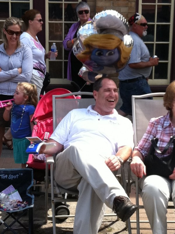 Republican U.S. Senate candidate Scott D'Amboise watches a parade in this picture from his Facebook page.