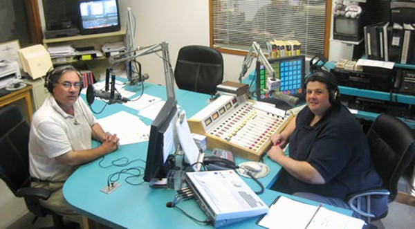 WZON radio sports director/sportscaster Dale Duff (left) and reporter/sportscaster Clem LaBree were fired by station owner Stephen King on Thursday, June 1, 2012.