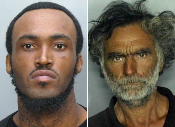 These undated photos show Rudy Eugene (left), 31, who police shot and killed as he ate the face of Ronald Poppo (right), 65, during a horrific attack in the shadow of The Miami Herald's headquarters on Saturday, May 26, 2012.