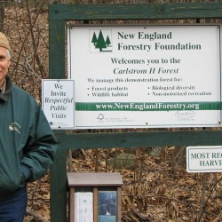 Fred A. Huntress, Jr., recipient of the New England Forestry Foundation Award of the Year for excellence in forest conservation, stewardship, and sustainable forest management.