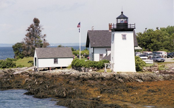 Grindle Point Lighthouse, located next to the Maine State Ferry Service terminal on Islesboro, will be open to public visitation during the June 22-23 Midcoast Maine Lighthouse Challenge. The lighthouse, which guards the approaches to Gilkey's Harbor, is owned by the Town of Islesboro. The Sailor's Memorial Museum is located in the lightkeeper's cottage.