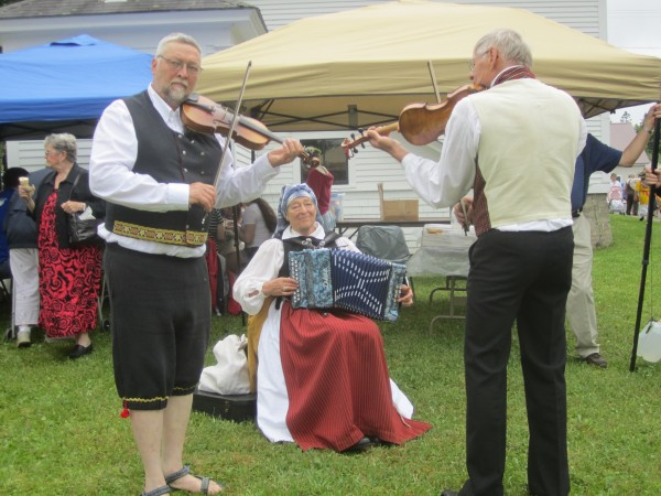 Musicians play traditional Swedish tunes throughout the day at the 2012 New Sweden Midsummer Festival.