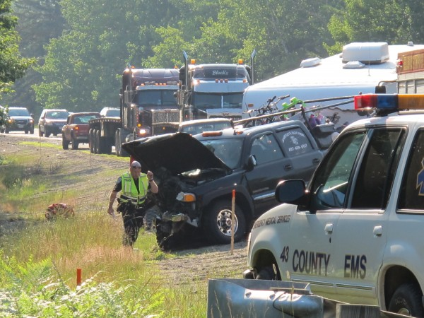 A driver was killed Friday evening when his car collided head-on with a truck pulling a camper on Route 3 in Ellsworth. Witnesses say the car crossed the centerline several times before crashing into the truck.