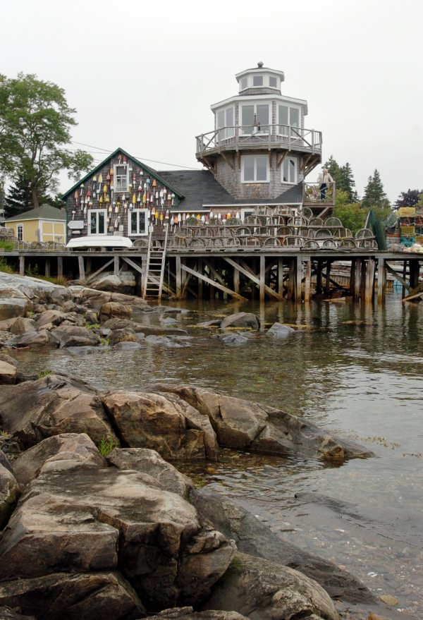 Irving Silverman's late wife Nancy had this lighthouse built for him in 1993 on top of a 110-year-old building they own on the water.