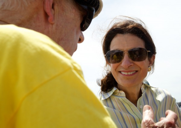 Maine Sen. Olympia Snowe was a judge at a lobster-eating contest in Portland Saturday, June 30, 2012. The fourth annual Portland Lobster Festival was organized by the Falmouth Rotary and took place on the Maine State Pier. Proceeds from the event benefit the Maine Children's Cancer Program and other Falmouth Rotary charities.