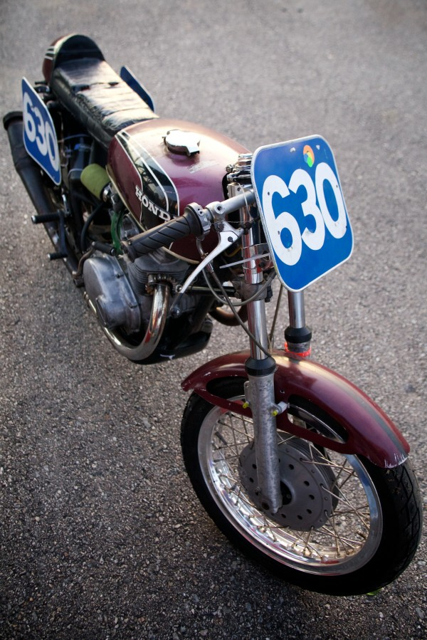 Steve Baker, 62, of Freeport competed with a nearly original 1972 Honda CB350 at the the United States Classic Racing Association Vintage Grand Prix Monday, June 11, 2012, in New Hampshire.