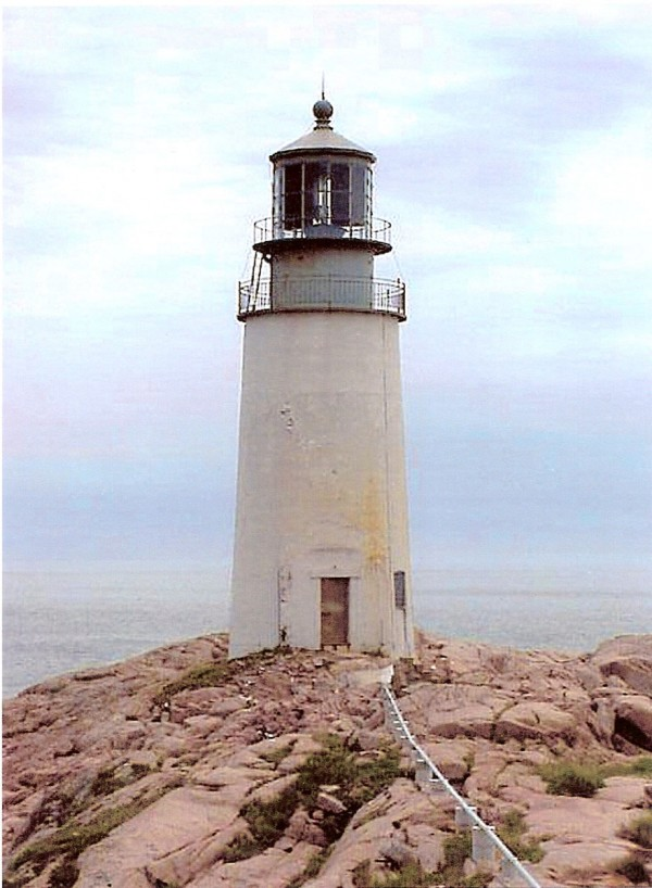 Moose Peak Lighthouse off the coast of Jonesport as it appears today. This lighthouse is also known as Mistake Island Lighthouse and Moose-a-bec Lighthouse. It is now being offered for free to any qualified nonprofit or the local community.