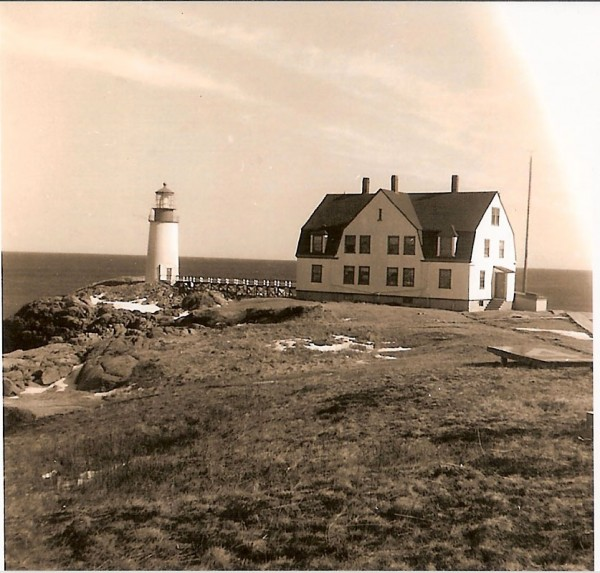 Moose Peak Lighthouse on Mistake Island off the coast of Jonesport in an undated historical photo. The lighthouse tower is all that remains today. The keeper's house was blown up by the military in 1982 after plans fell through to sell it to a private party.