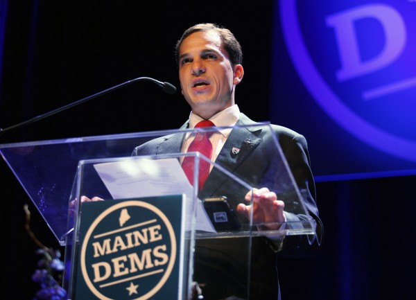 Benjamin Pollard, a candidate for Maine's open U.S. Senate seat, speaks during the Maine Democratic Convention on Saturday, June 2, 2012 at the Augusta Civic center in Augusta.