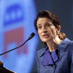 Olympia Snowe campaigns for Kevin Raye in Bangor, Lewiston