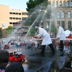 Slide show and video: Coke and Mentos guys perform in Portland