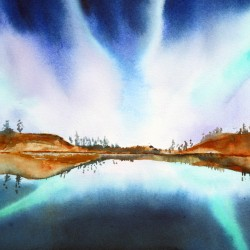 Northern Lights IV  Asian brush Jean Kigel