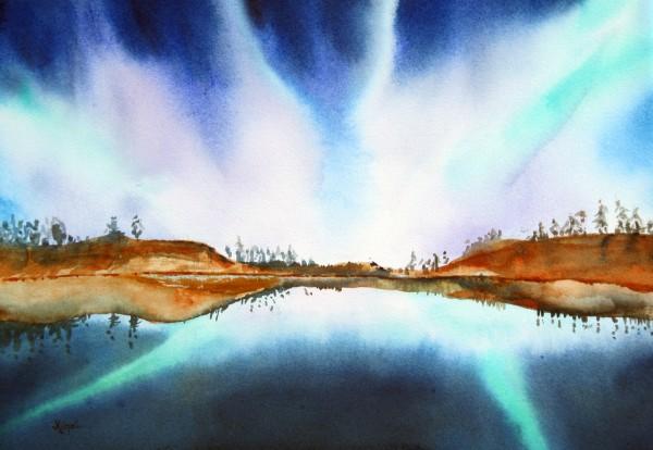 Northern Lights IV  Asian brush Jean Kigel