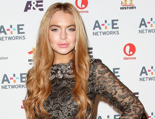 In this May 9, 2012 photo shows actress Lindsay Lohan at the A&E Networks 2012 Upfront at Lincoln Center in New York.