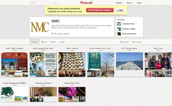 NMC Pinterest page: pinterest.com/nmcmaine