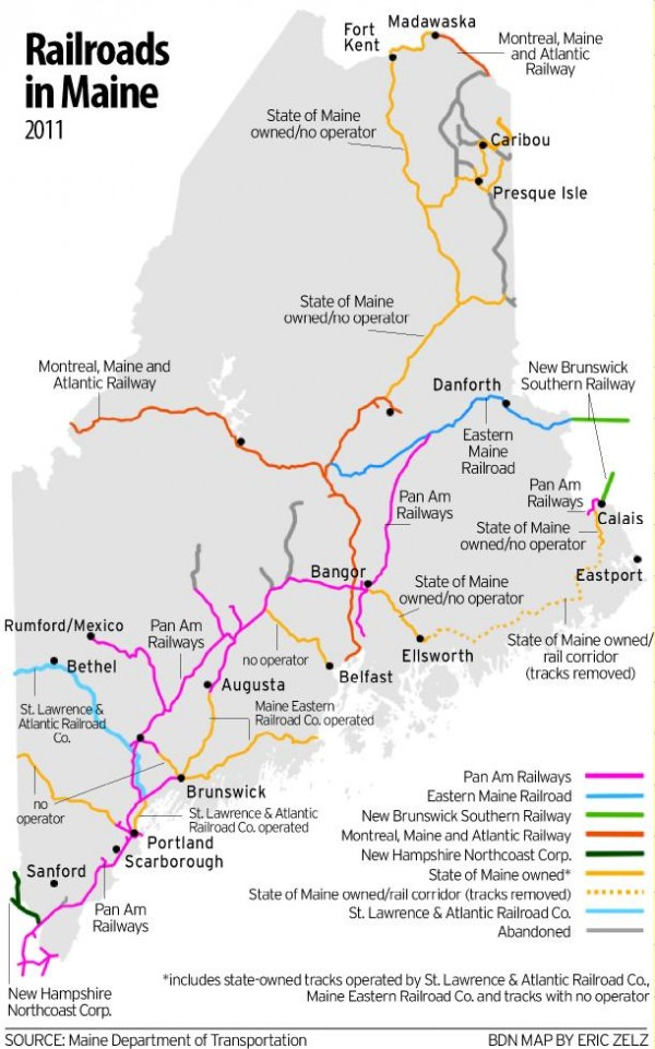 As Trains Start To Carry Crude Oil Across Maine
