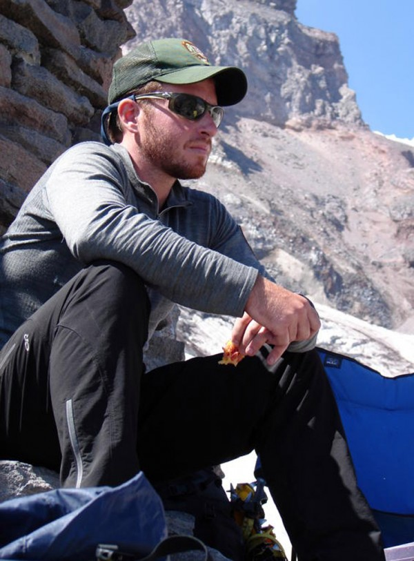 Climbing ranger Nick Hall is shown on Mount Rainier in Washington state. Hall, 33, was killed Thursday, June 21, 2012, as he was helping evacuate climbers from a crevasse near the summit of the 14,441-foot mountain.