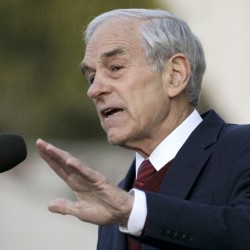 Rep. Ron Paul, R-Texas speaks at the University of California at Berkeley, Calif., on April 5, 2012.