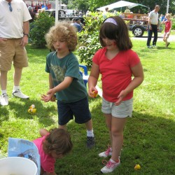 Activities for children include outdoor games and indoor crafts as well as innovative balloon twister Kyle Edgerly.